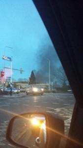 Grote brand bij autobedrijf WPI in de Ampérestraat